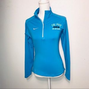 NIKE Cal Poly Half Zip Dri Fit Long Sleeve